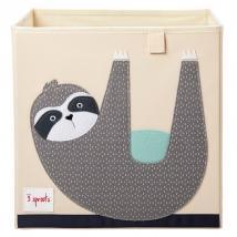 3 Sprouts τετράγωνο καλάθι για τα παιχνίδια - Sloth
