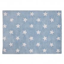 Lorena Canals παιδικό χαλί - Aqua stars white C-A-SW