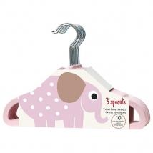 3 Sprouts παιδικές κρεμάστρες (σετ 10τμχ) - elephant