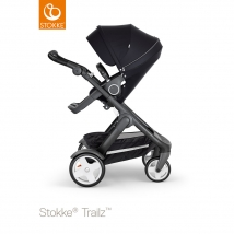 Stokke Trailz Black παιδικό καρότσι με κλασσικούς τροχούς - Black
