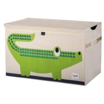 3 Sprouts καλάθι για παιχνίδια με καπάκι - Crocodile