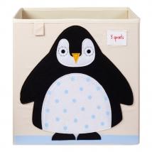 3 Sprouts τετράγωνο καλάθι για τα παιχνίδια - Penguin