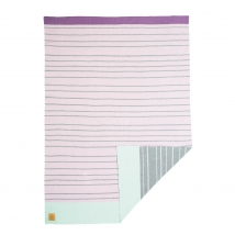Lassig πλεκτή κουβέρτα - Stripes light pink 1542001710
