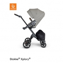 Stokke Xplory V6  Black Chassis - Brushed Grey