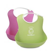 BabyBjörn μαλακή σαλιάρα 2-pack - Ροζ / πράσινο