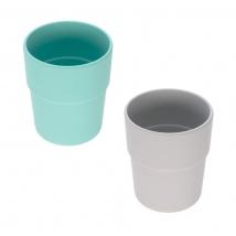 Lassig σετ 2 κούπες bamboo - Turquoise/Grey 1310022558