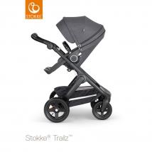 Stokke Trailz Black παιδικό καρότσι με τροχούς παντός εδάφους - Black Melange