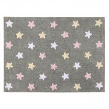 Lorena Canals παιδικό χαλί - Grey stars pink C-ST-P