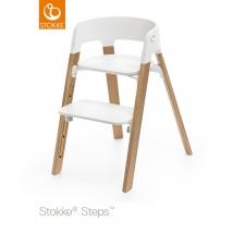 Stokke Steps παιδικό κάθισμα φαγητού - White/Oak natural