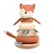 Sebra stacking & tilting ξύλινος πύργος - Sparky the fox 300130029