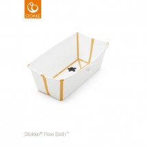 Stokke Flexi Bath μπανάκι - Λευκό κίτρινο