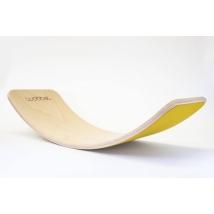 Wobbel ξύλινη σανίδα ισορροπίας με τσόχα - Mustard Yellow