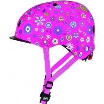 Globber  κράνος Elite lights - Deep Pink Flowers (507-110)