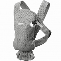 BabyBjörn Mini μάρσιπος 3D Mesh - Grey, 021018