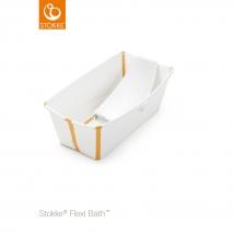 Stokke® Flexi Bath® μπανάκι Bundle - Λευκό κίτρινο