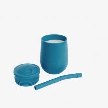 Ezpz εκπαιδευτικό ποτήρι Mini Cup + καλαμάκι Blush - Blue