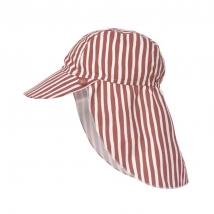 Lassig παιδικό καπέλο με προστασία λαιμού - Stripes red 1433015620
