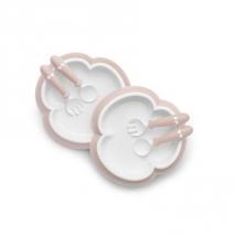 BabyBjörn σετ κουταλοπίρουνα & πιάτο - Powder Pink 074064