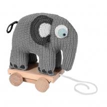 Sebra τροχήλατο ελεφαντάκι crochet - Crochet classic grey 300130027