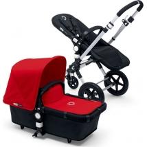 Bugaboo Cameleon3 plus Complete Black παιδικό καρότσι - Black/Red