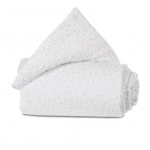 babybay® πάντα από οργανικό βαμβάκι για λίκνο Original - 100858 white stars diamond blue