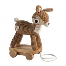 Sebra τροχήλατο ελαφάκι crochet - Dixie the Deer 3001302