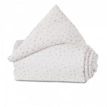 babybay® πάντα από οργανικό βαμβάκι για λίκνο Maxi/BoxSpring/Comfort - 100857 white glitter stars silver