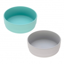Lassig σετ 2 μπωλ bamboo - Turquoise/Grey 1310021558