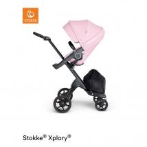Stokke Xplory V6  Black Chassis Lotus Pink - Lotus Pink