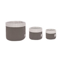 Lassig καλάθια αποθήκευσης σετ των 3 - 1541007236 Anthracite