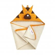 3 sprouts πετσέτα με κουκούλα - Tiger