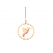 Nobodinoz ξύλινο μόμπιλο  Humming bird - pink NB93031