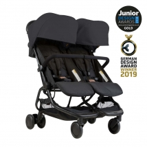 Mountain buggy® Nano Duo παιδικό καρότσι για δίδυμα - Black V1-5