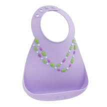 Make my Day σαλιάρα σιλικόνης - 70108 Lilac with jewels