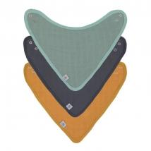 Lassig σαλιάρες bandana από μουσελίνα Set 3τμχ - 1312027973 GREEN/NAVY/MUSTARD