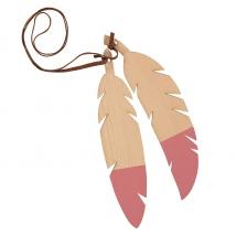 Nobodinoz ξύλινο κρεμαστό Feathers Duo - Pink NB87351