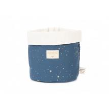 Nobodinoz Panda πάνινο καλάθι μεσαίο - Gold stella/night blue NB101668