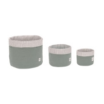 Lassig καλάθια αποθήκευσης σετ των 3 - 1541007515 Green
