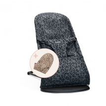 BabyBjörn ριλάξ Bliss σετ με δύο υφάσματα - Leopard anthracite Mesh + Leopard Cotton 607078A