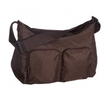 Lassig Marv Shoulder bag τσάντα αλλαγής - MSB0601 chocolate (circles)
