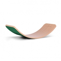 Wobbel ξύλινη σανίδα ισορροπίας με τσόχα - Foliage Green