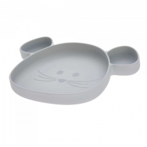 Lassig πιάτο από σιλικόνη - Grey 1310035253