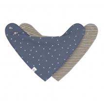 Lassig μπαντάνα/σαλιάρα - GOTS blue / grey 1531015986