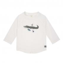 Lassig UV μακρυμάνικο μπλουζάκι θαλάσσης - Crocodile white 1431021132