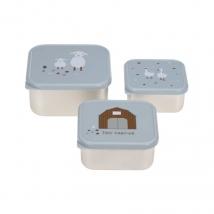 Lassig snackbox set inox - Tiny farmer blue 1310074841