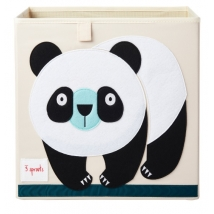 3 sprouts τετράγωνο καλάθι για τα παιχνίδια - Panda