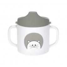 Lassig ποτηράκι με διπλό χερούλι από μελαμίνη - Little Chums Cat 1310071108
