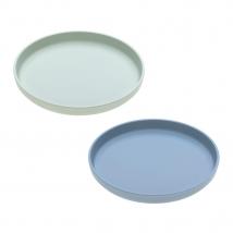 Lassig πιάτο bamboo 2 τμχ. - mint/blueberry 1310020929
