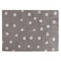 Lorena Canals παιδικό χαλί Dots - Topos tricolor grey/pink C-TT-1