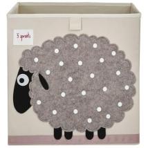 3 sprouts τετράγωνο καλάθι για τα παιχνίδια - Sheep